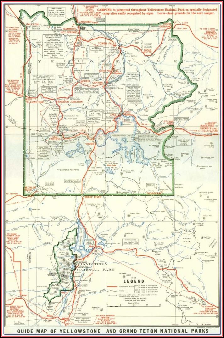 Grand Tetons National Park Camping Map
