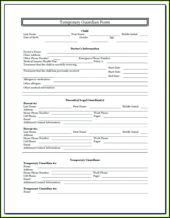 Grandparent Guardianship Form Ohio