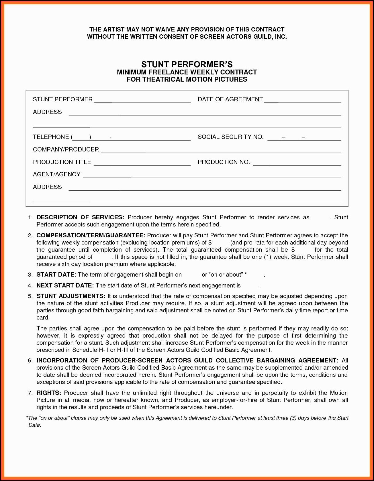 Graphic Design Contract Form