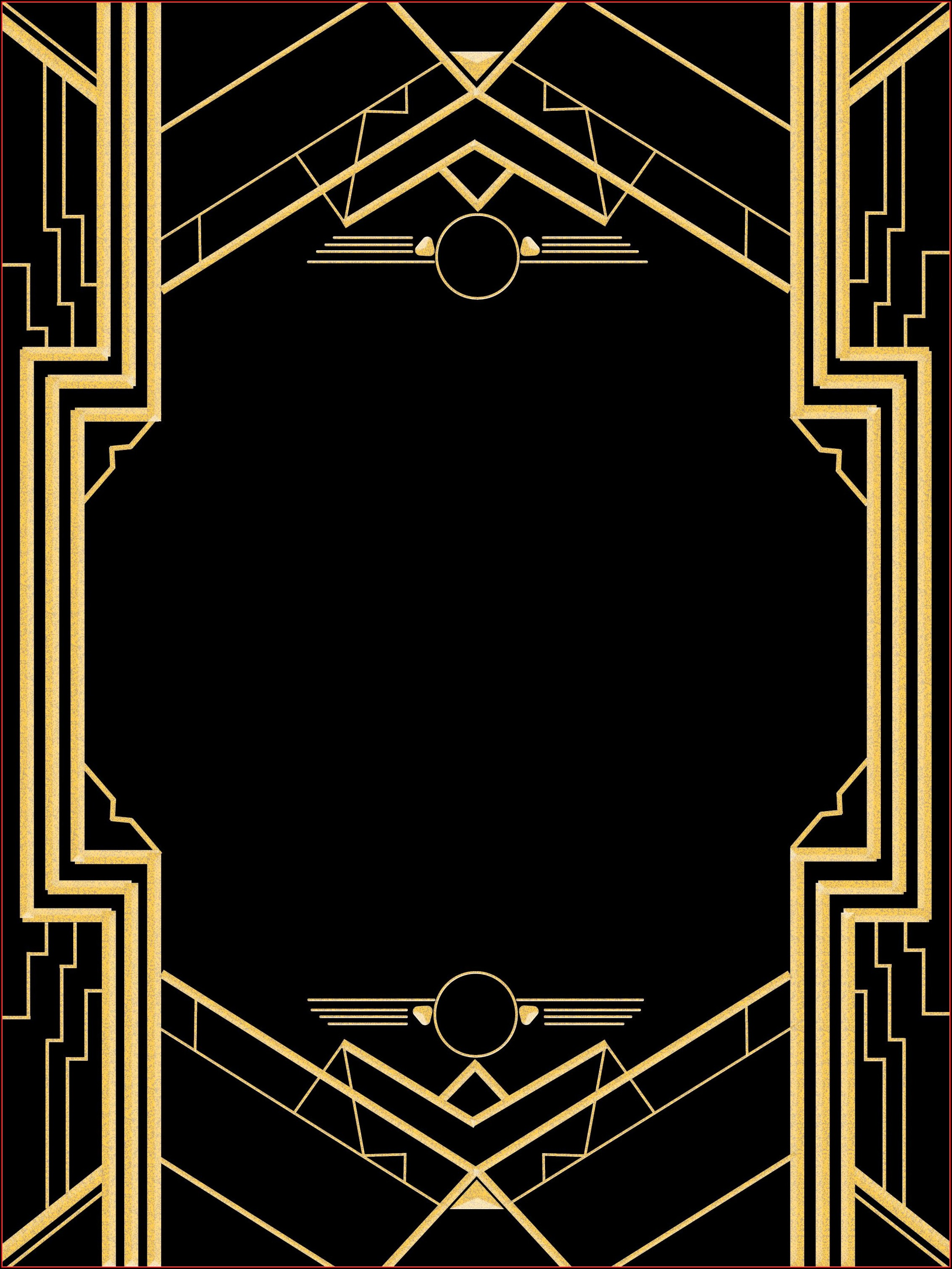 Great Gatsby Birthday Invitation Templates