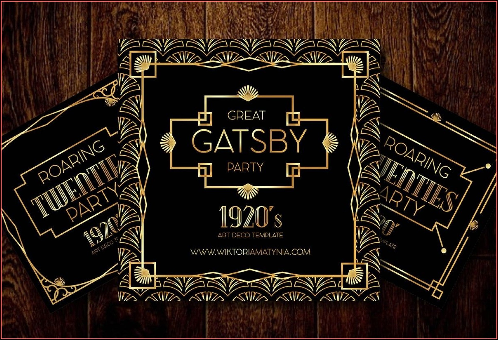 Great Gatsby Invitation Template Pdf