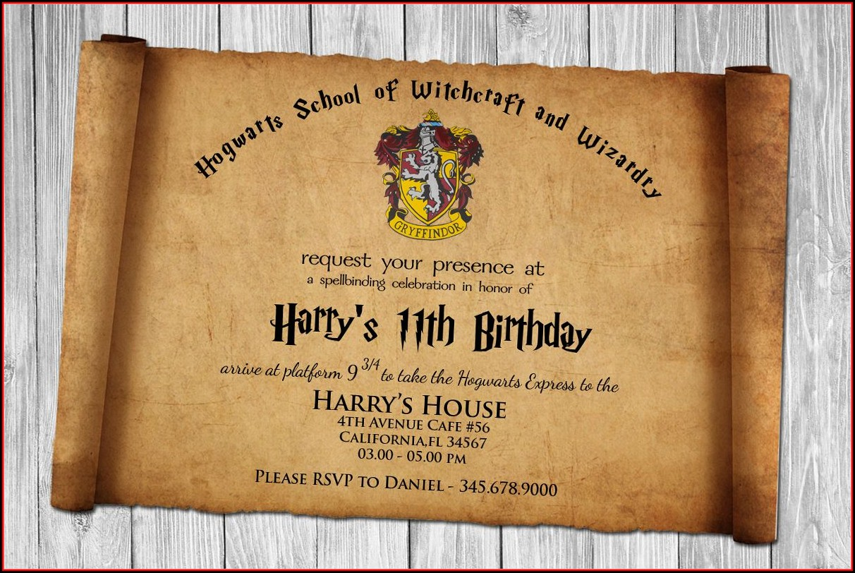 Harry Potter Invitation Template