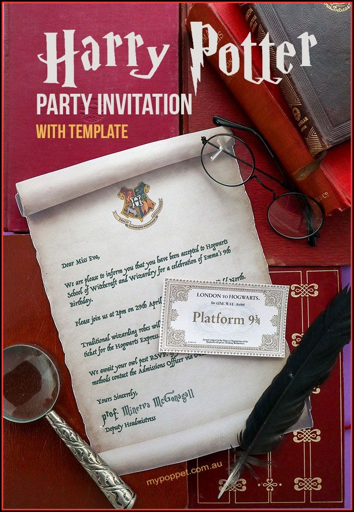 Harry Potter Party Invitation Template