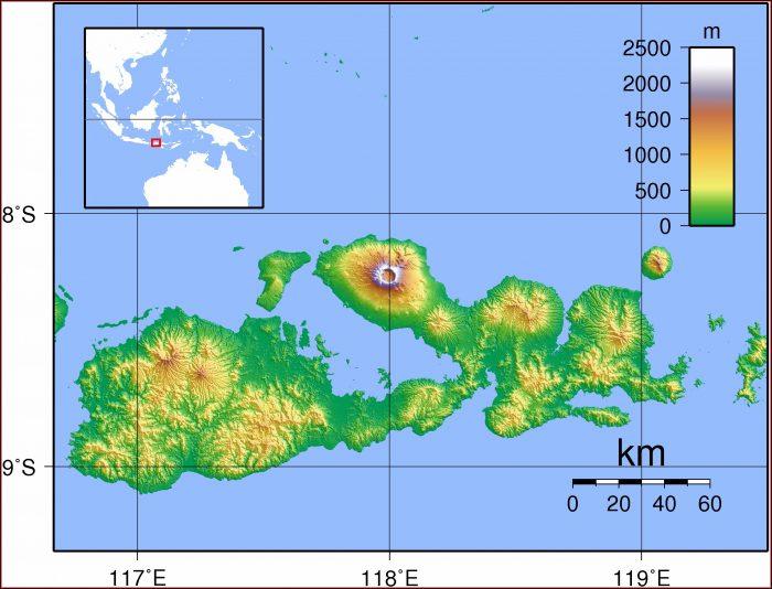 Hawaii Volcano Topographic Map