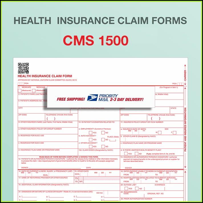 Hcfa 1500 Claim Form Pdf Template
