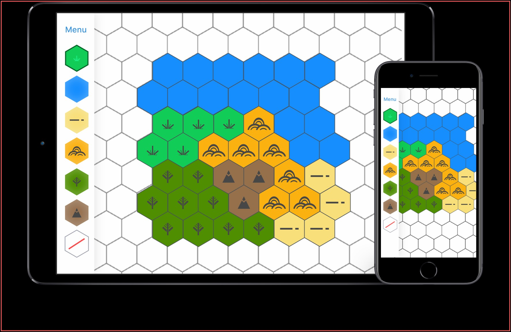 Hexagon Tile Map Editor