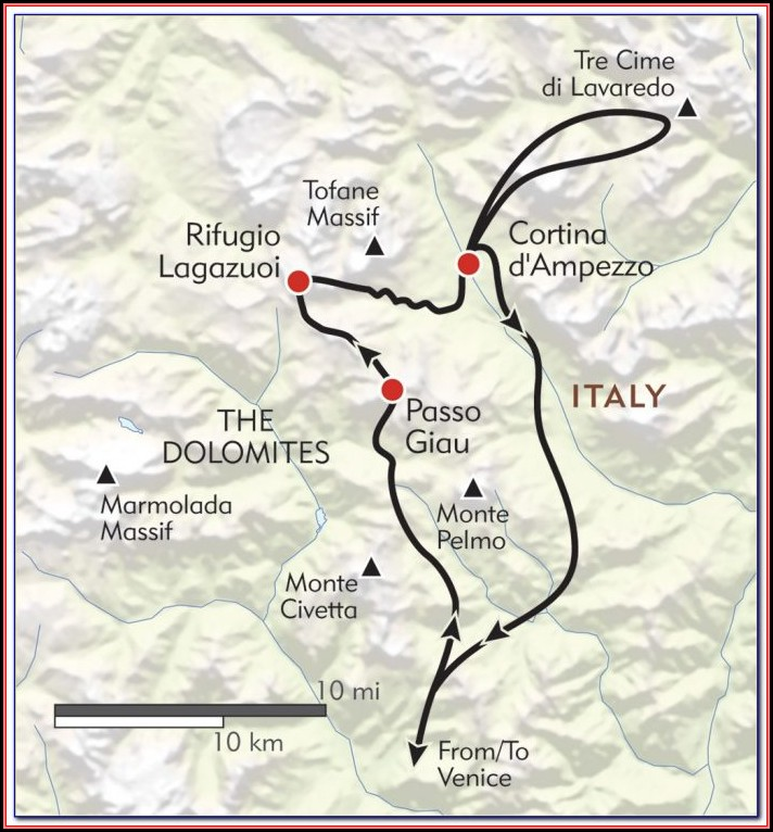 Hiking Maps Dolomites Italy