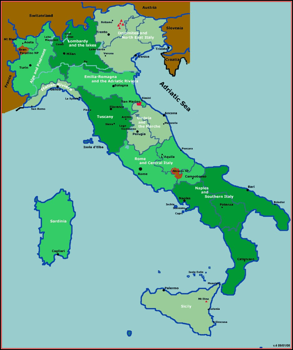 Hiking Maps Italy