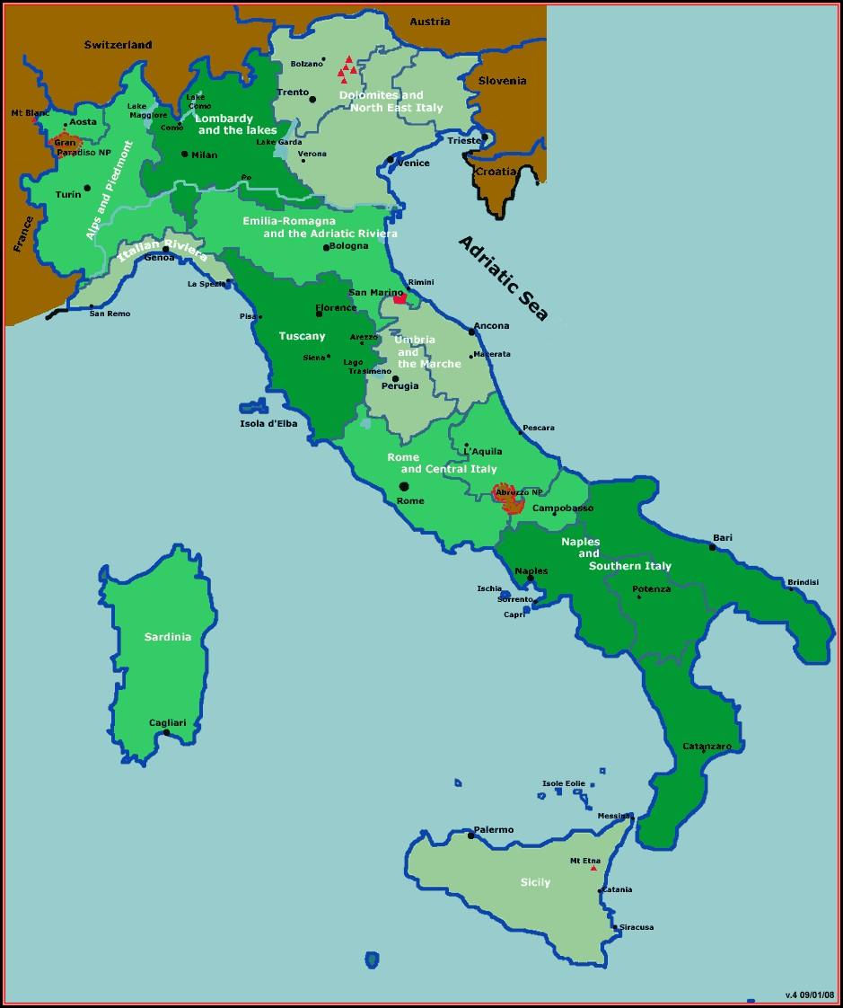 Hiking Maps Italy