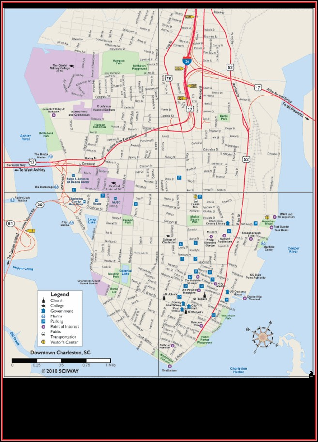 Historic Charleston Map