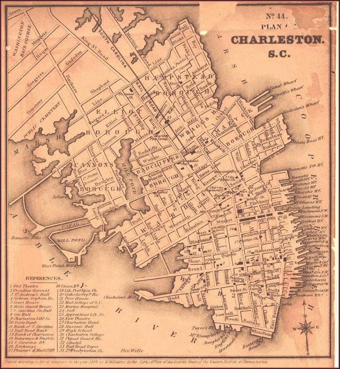 Historic Charleston Sc Map