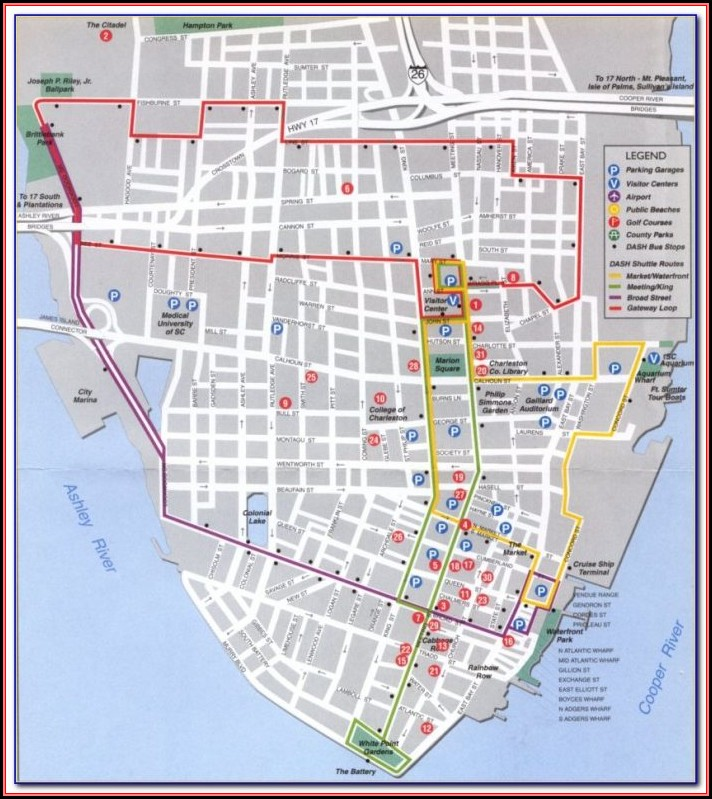 Historic Charleston Walking Map