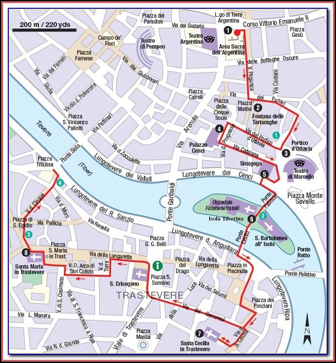 Historic Charleston Walking Tour Map