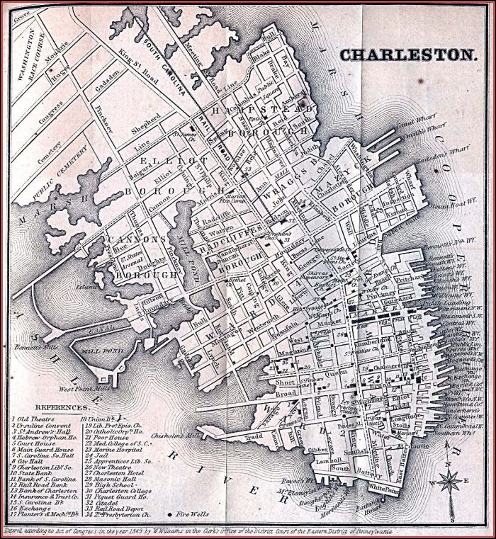 Historic Maps Of North Charleston Sc