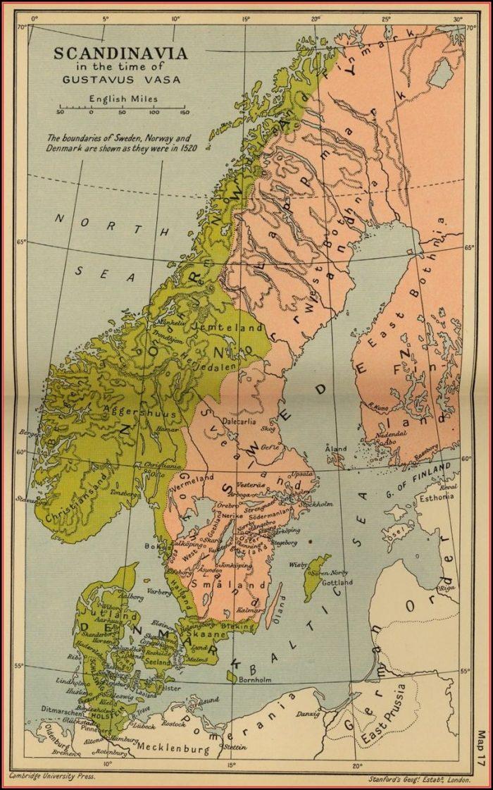 Historical Map Of Scandinavia