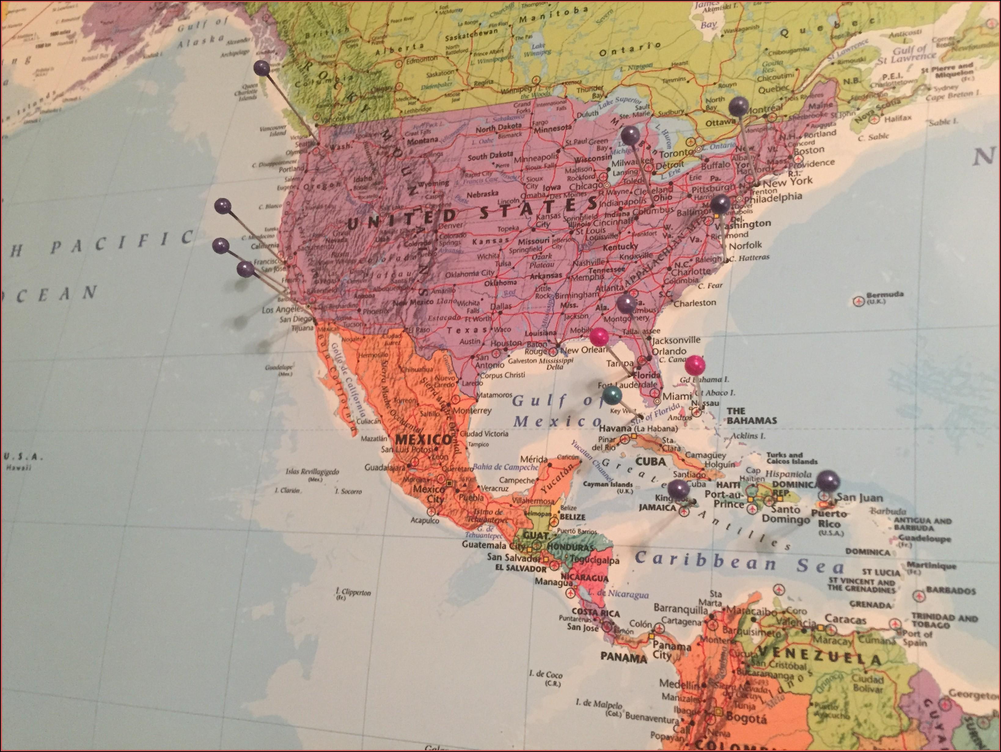 Hobby Lobby Map Fabric