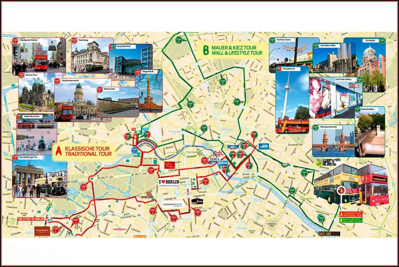 Hop On Hop Off Berlin Tour Map