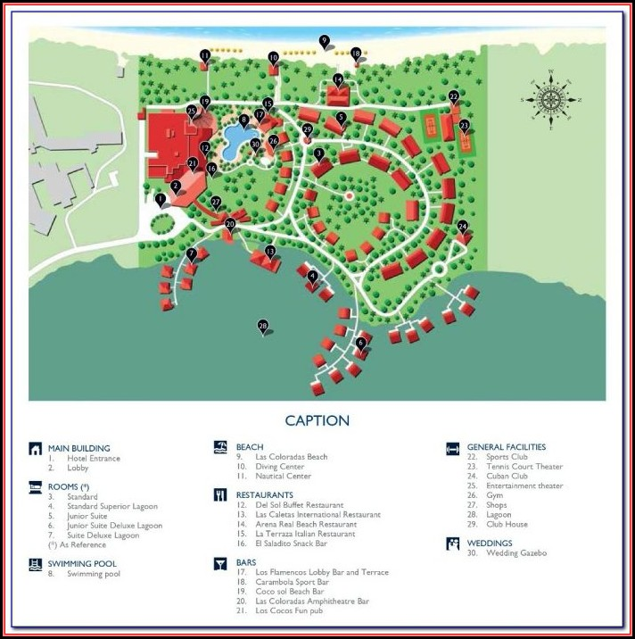 Hotels In Cayo Coco Cuba Map