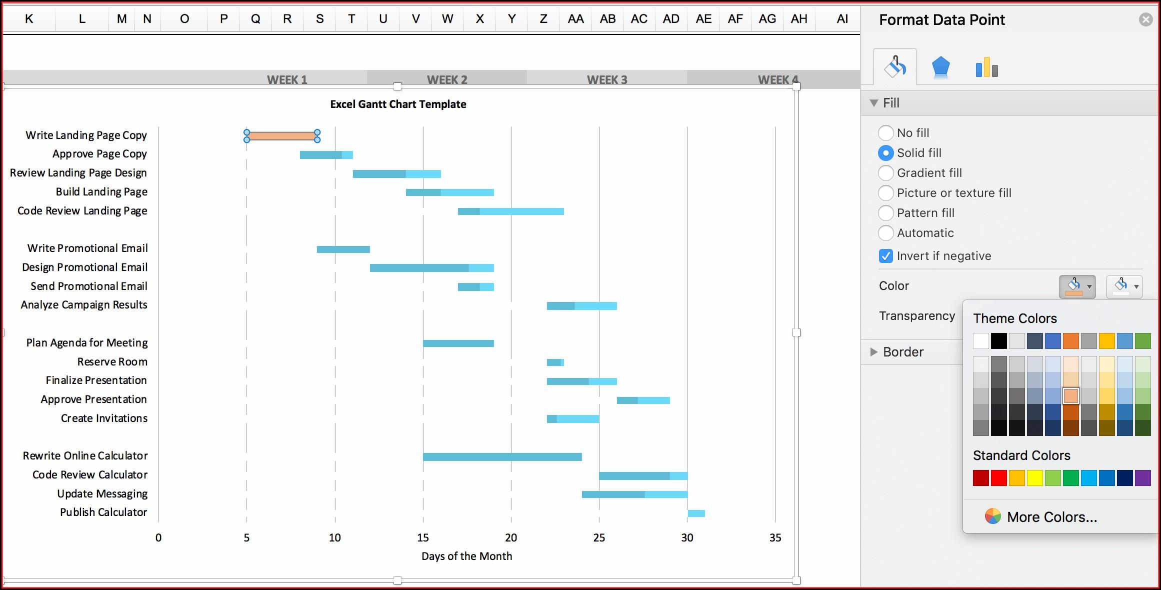 Hourly Gantt Chart Excel Template Xls