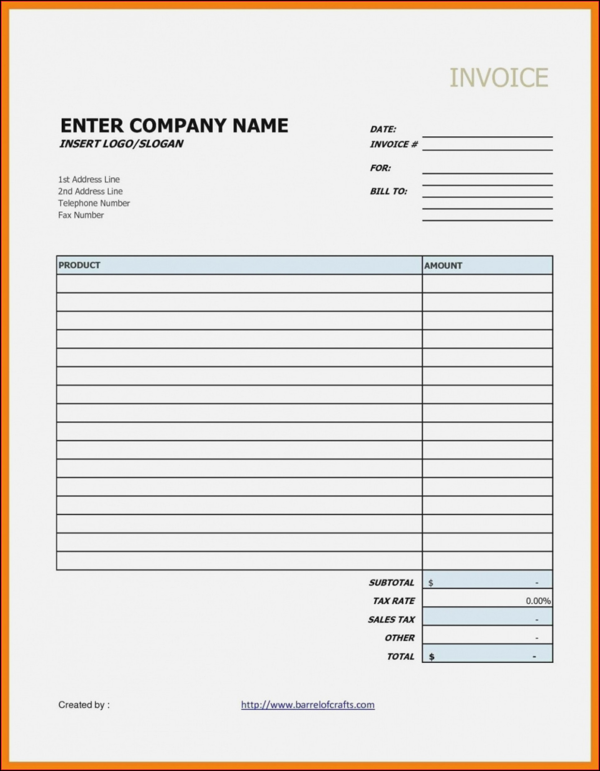 Hourly Invoice Template Google Docs