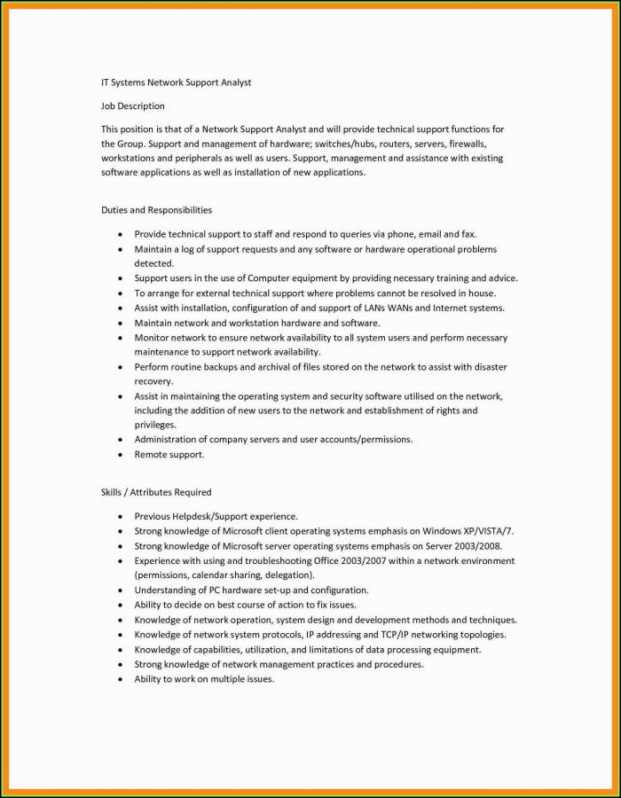 How To Fill Out Job Description On Resume