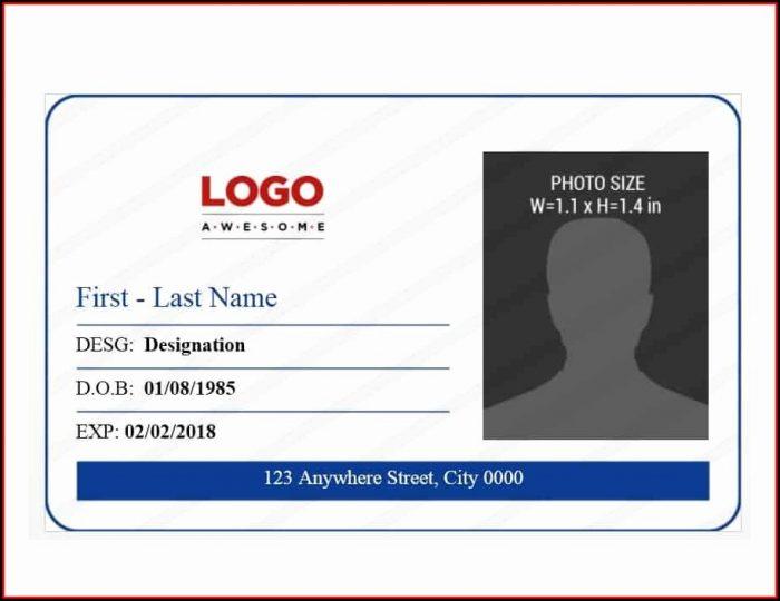 Id Badge Template Free Printable