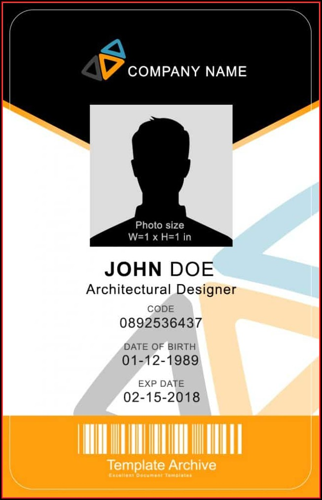 Id Badge Template Free