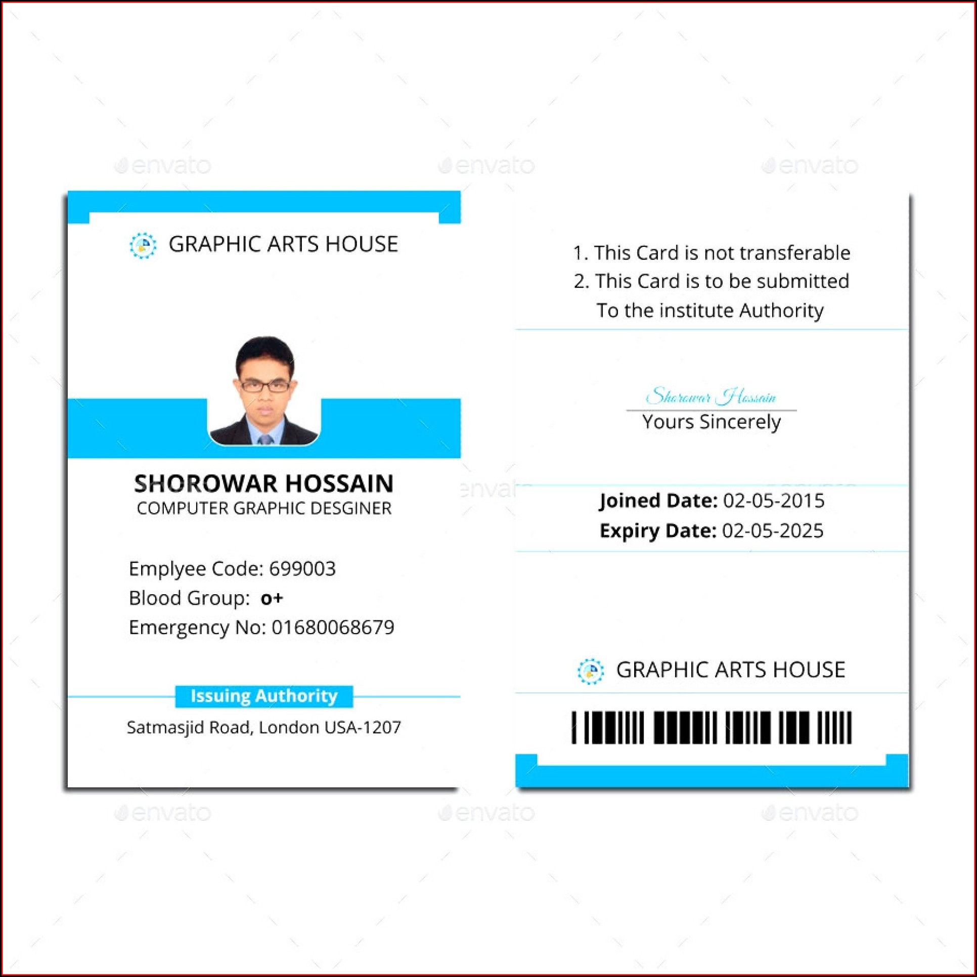 Id Badge Template Microsoft Word