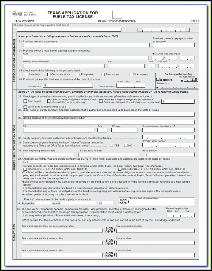 Ifta Report Form Texas