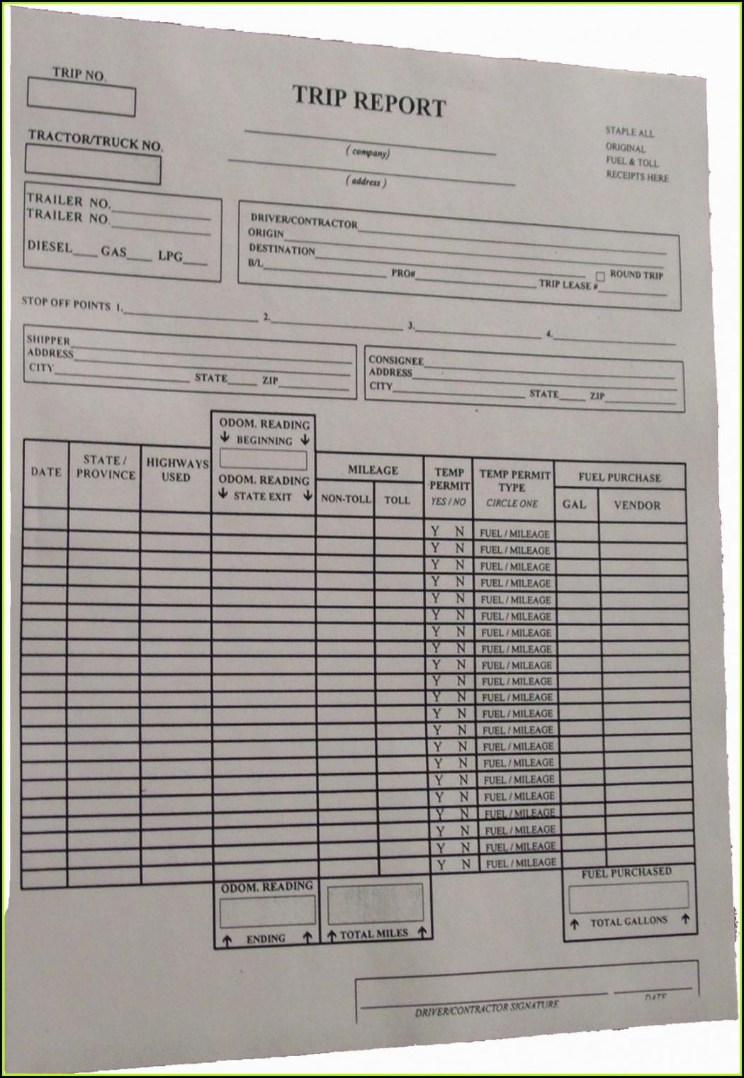 Ifta Trip Report Form