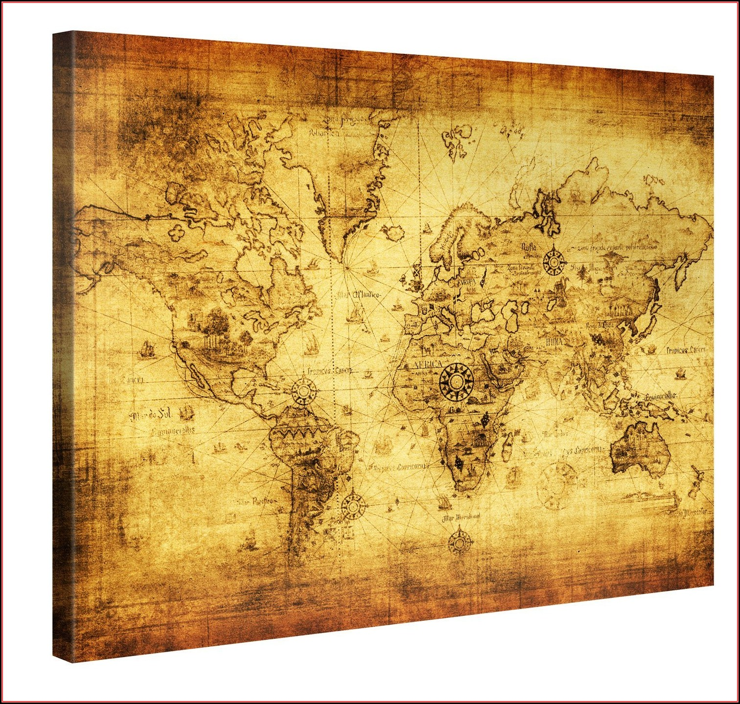 Ikea Premiar World Map Picture With Framecanvas