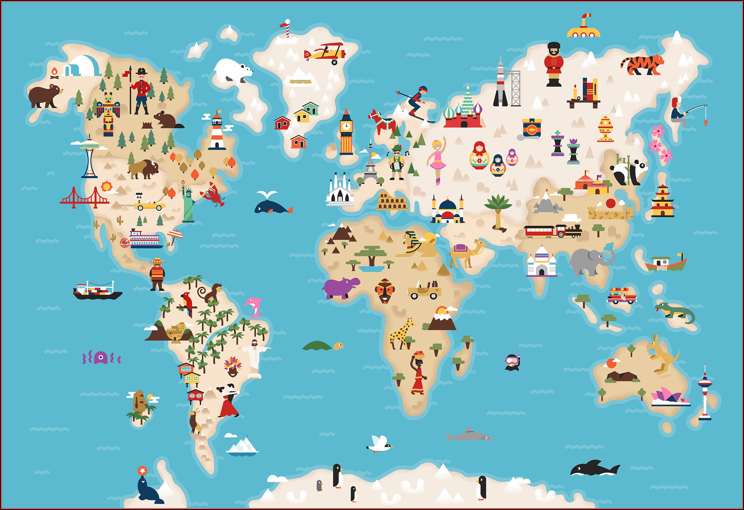 Illustrated World Map Anyong Lupa Map Resume Examples