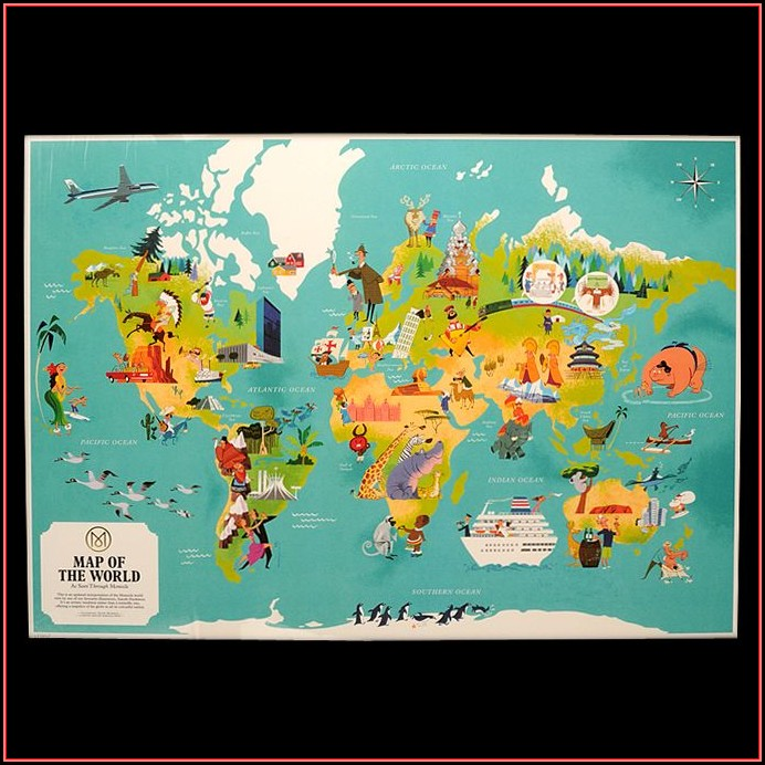 Illustrated World Map Poster