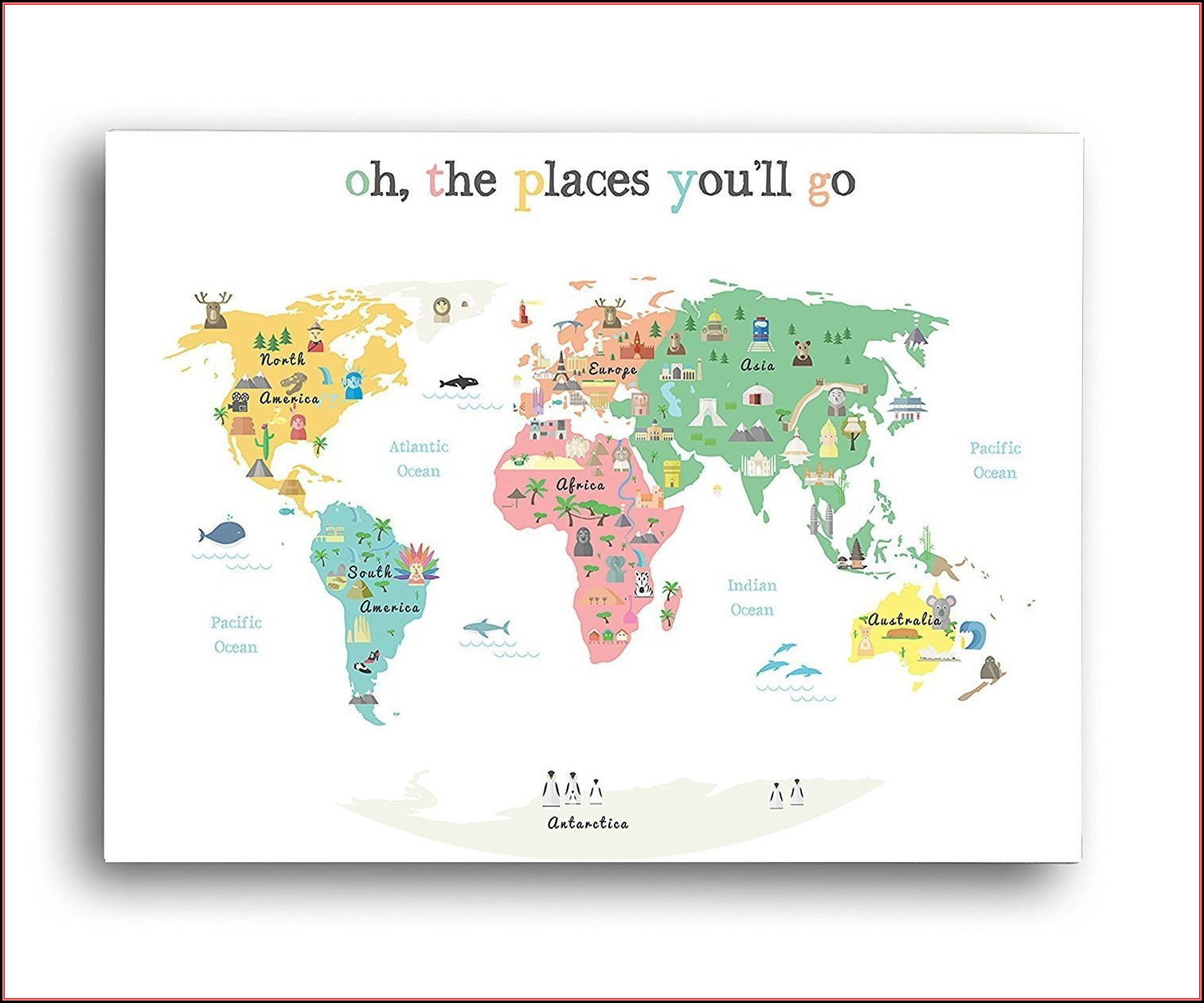 Illustrated World Map