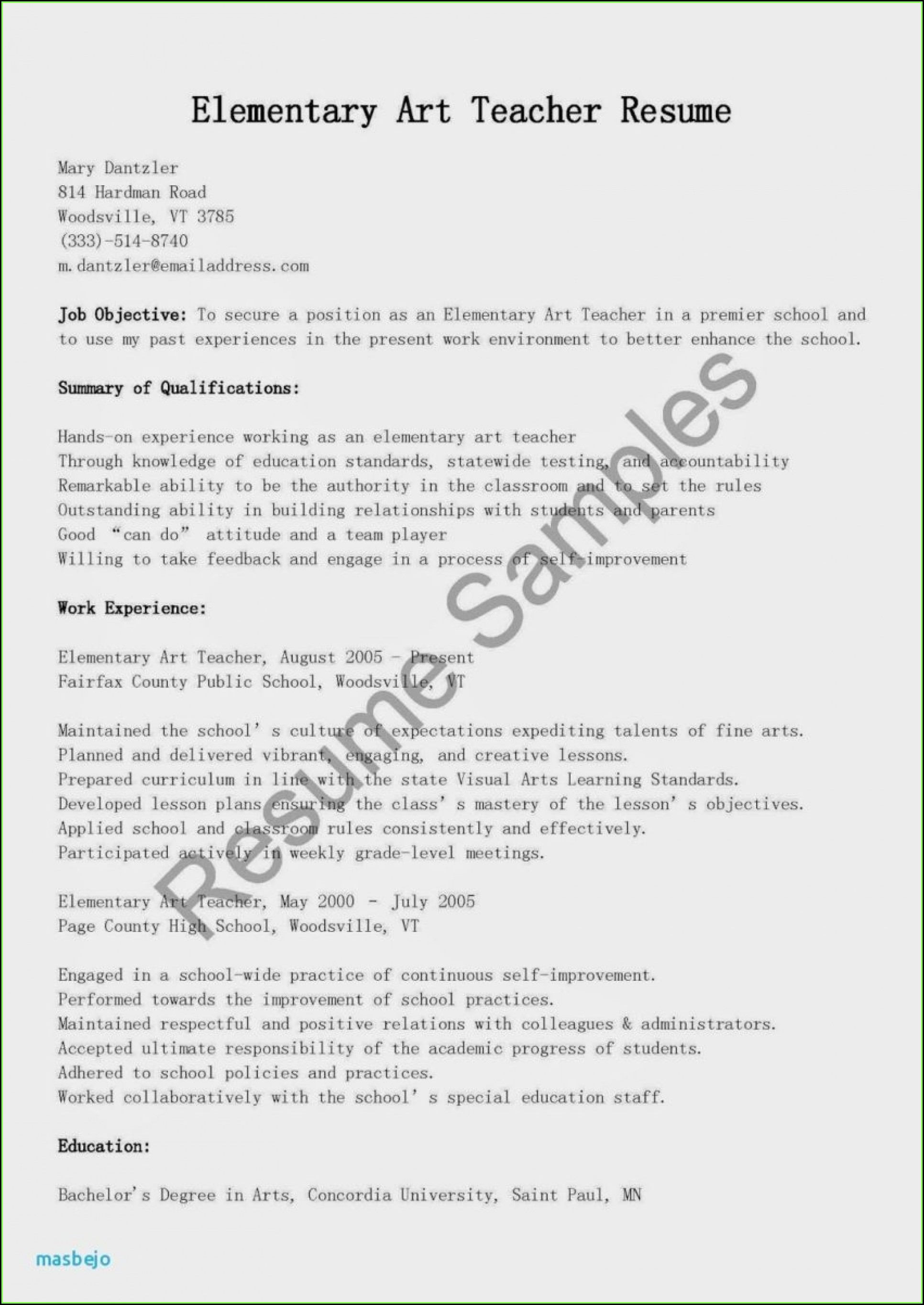 Indian Teacher Resume Format In Word Free Download
