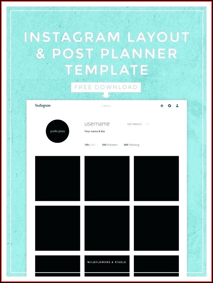 Instagram Frame Prop Template Download