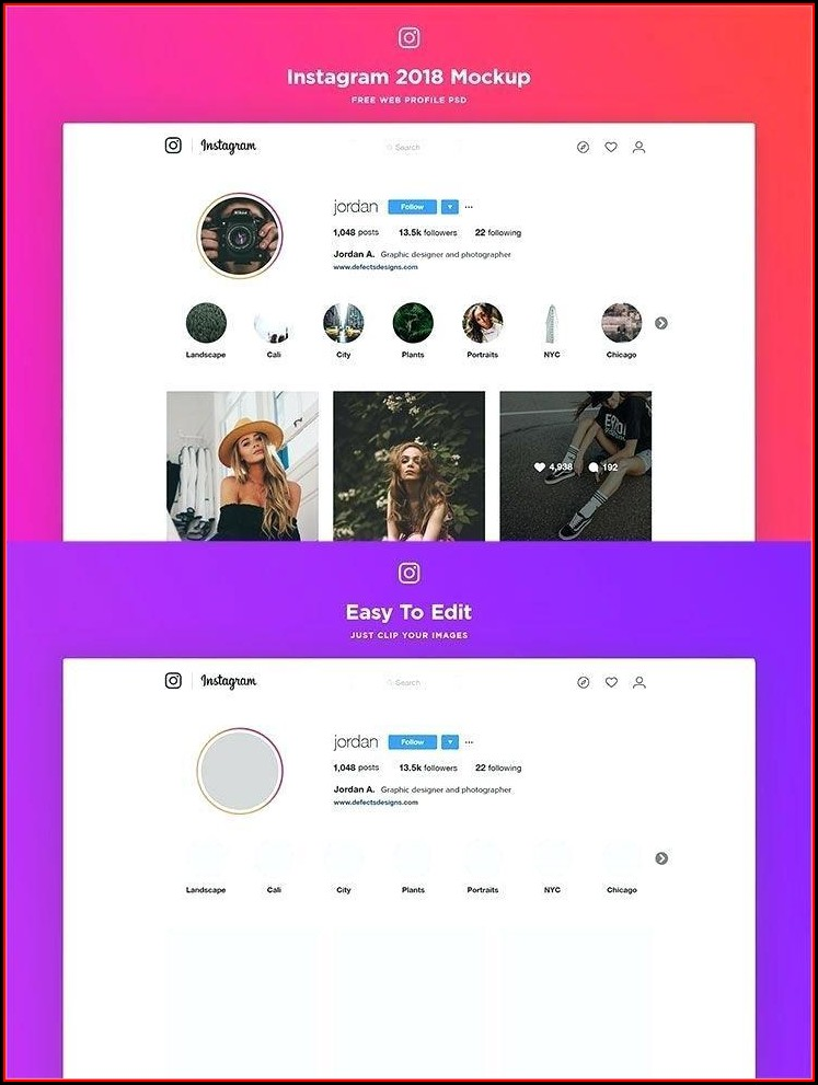 Instagram Frame Prop Template Free