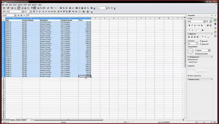 Inventory Spreadsheet Template Open Office