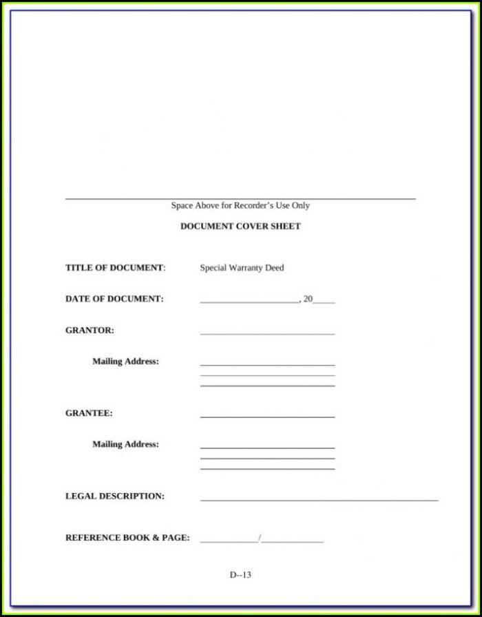 Iowa Warranty Deed Form Free