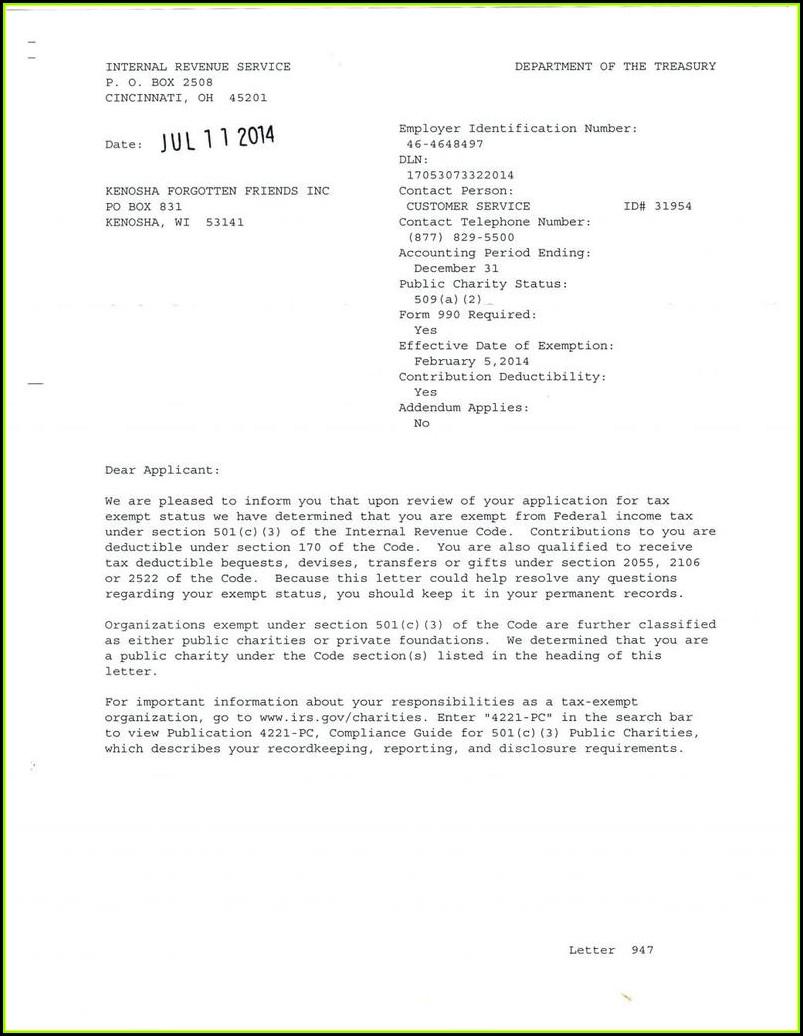 Irs 501c3 Form