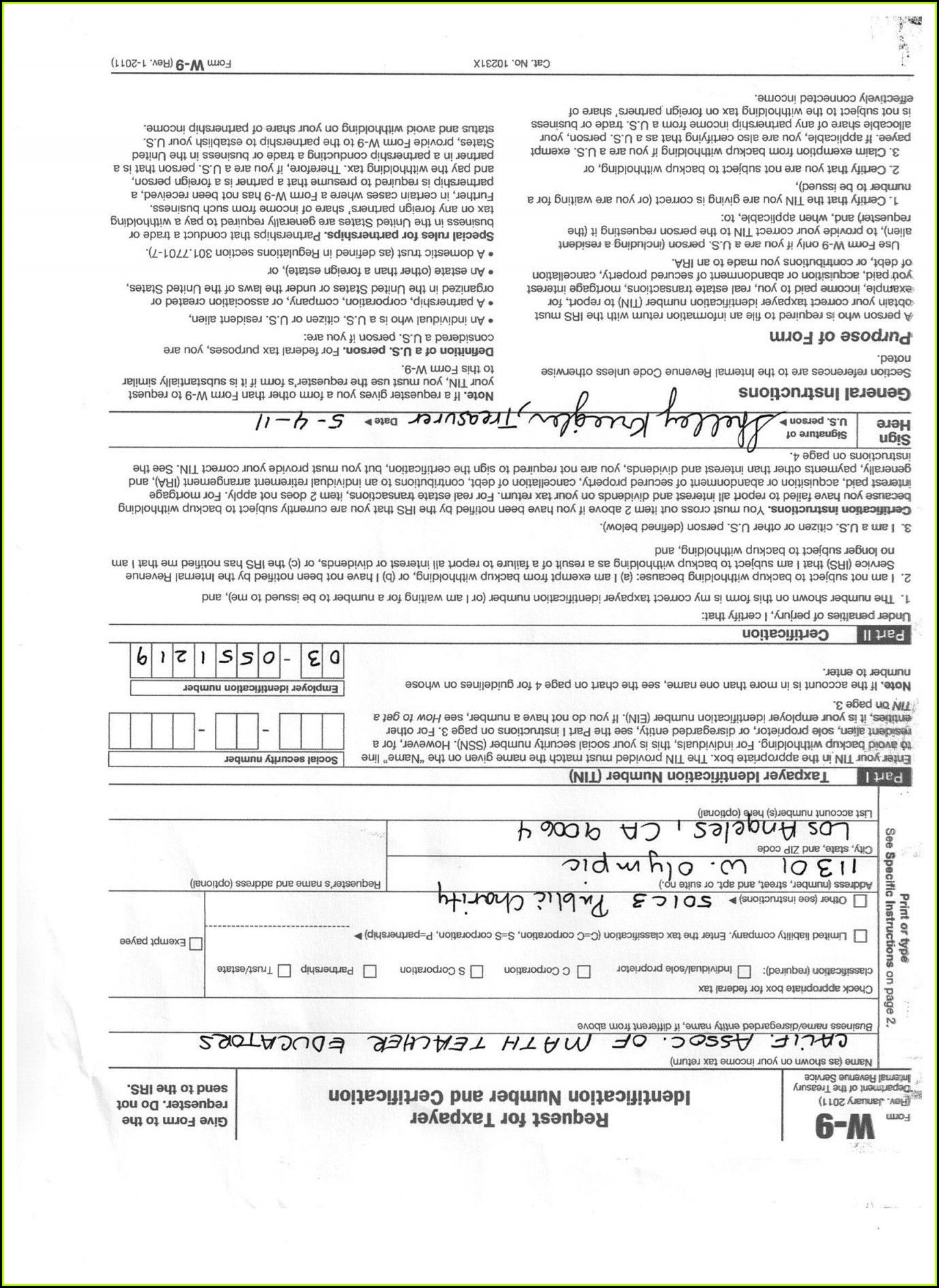 Irs Form 501c3 Ez