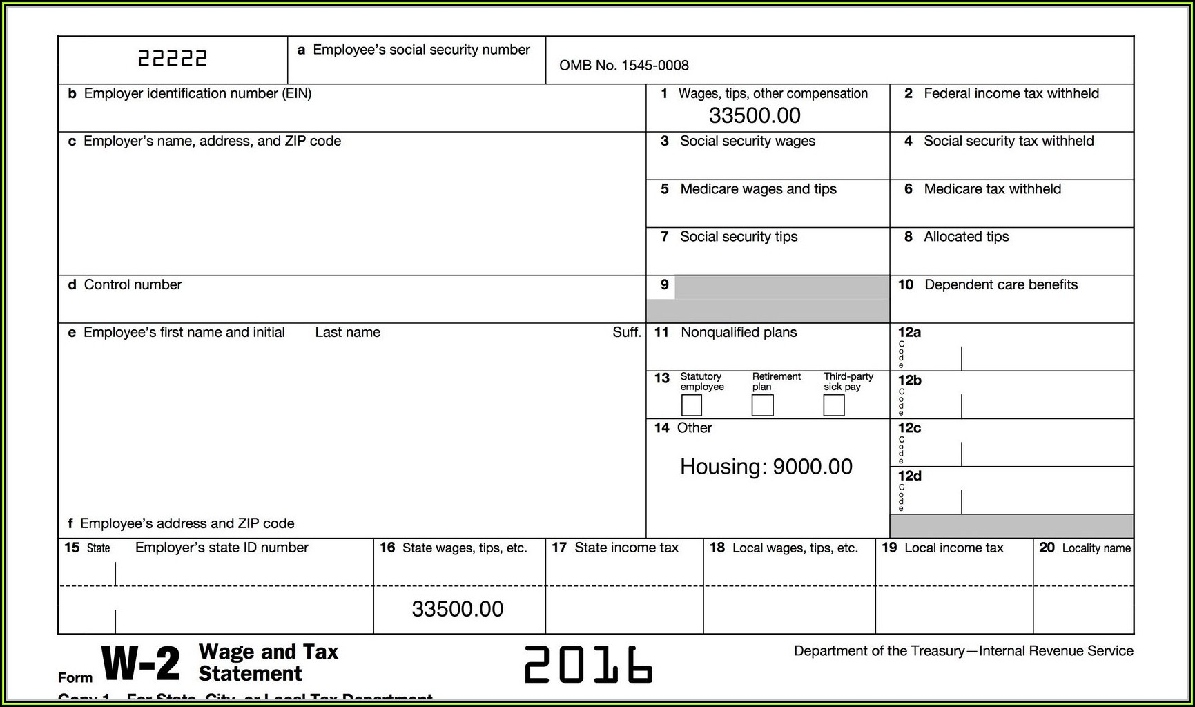 Irs Forms W2 2016