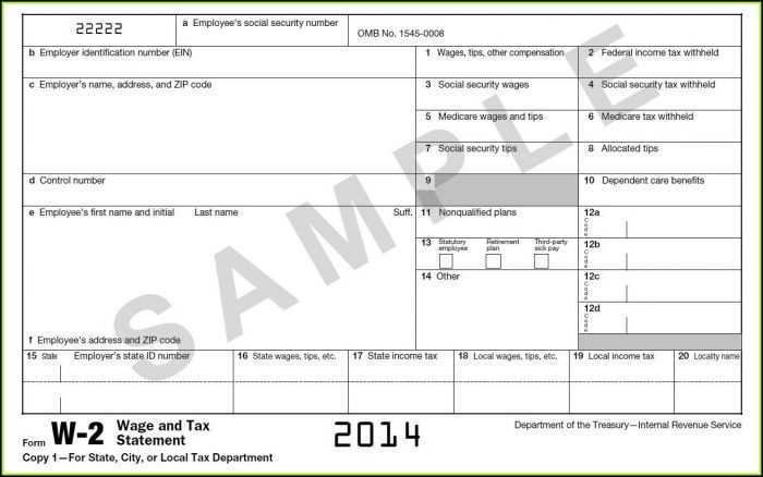 Irs Forms W2 And W3