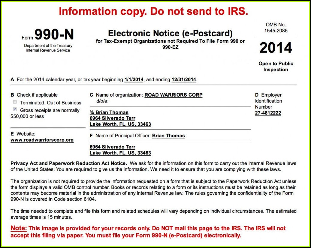 Irs Nonprofit Form 990