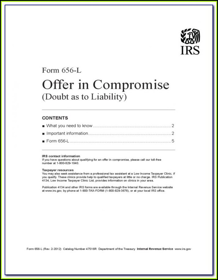 Irs Offer In Compromise Form 433 A