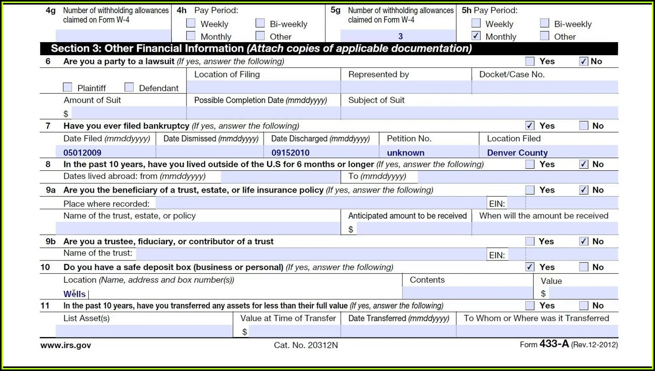 Irs Oic Form 433