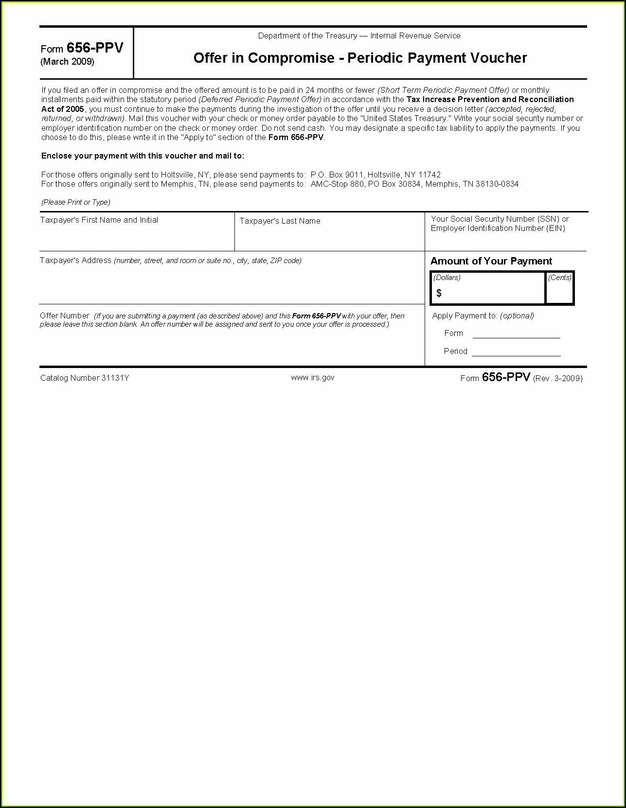 Irs Oic Form 656