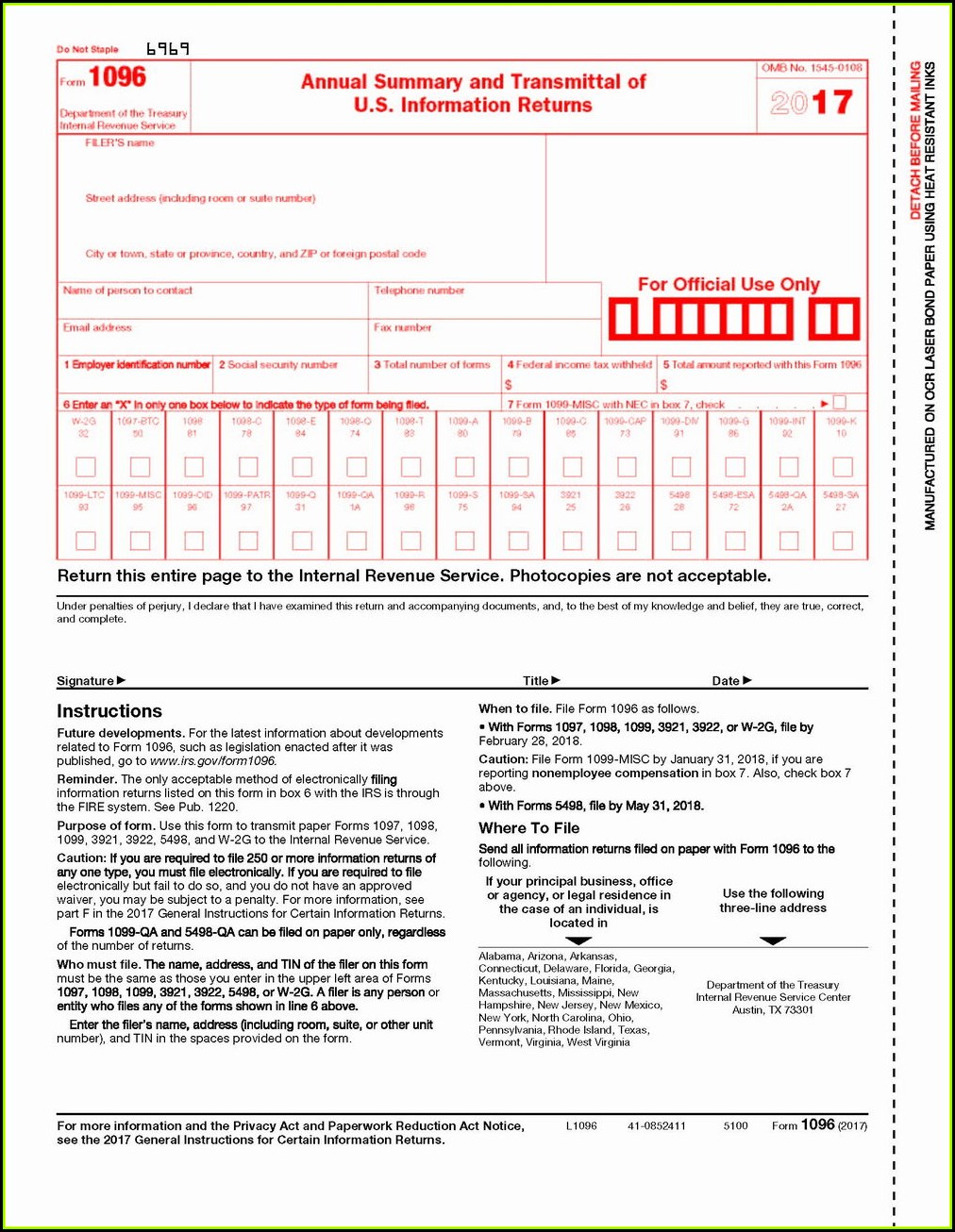 Issuing 1099 Forms