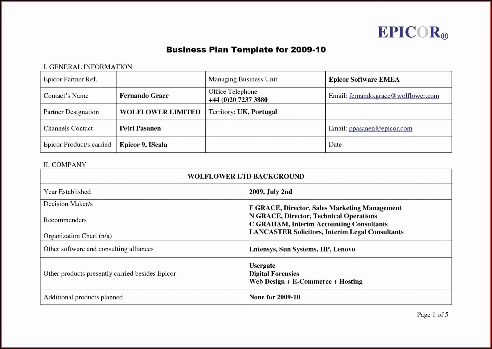 It Disaster Recovery Plan Template Free Download
