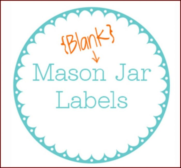 Jar Label Templates